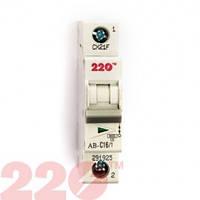 Автоматичний вимикач  1Р 16А (6кА) 220
