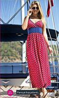Платье красное в горох
