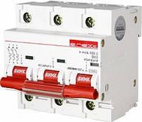 Модульный автоматический выключатель e.mcb.stand.100.3.D63, 3р, 63А, D, 10кА