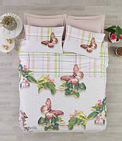 Постельное белье Cotton box Ранфорс Floral Seri 3D Brenda Yesil