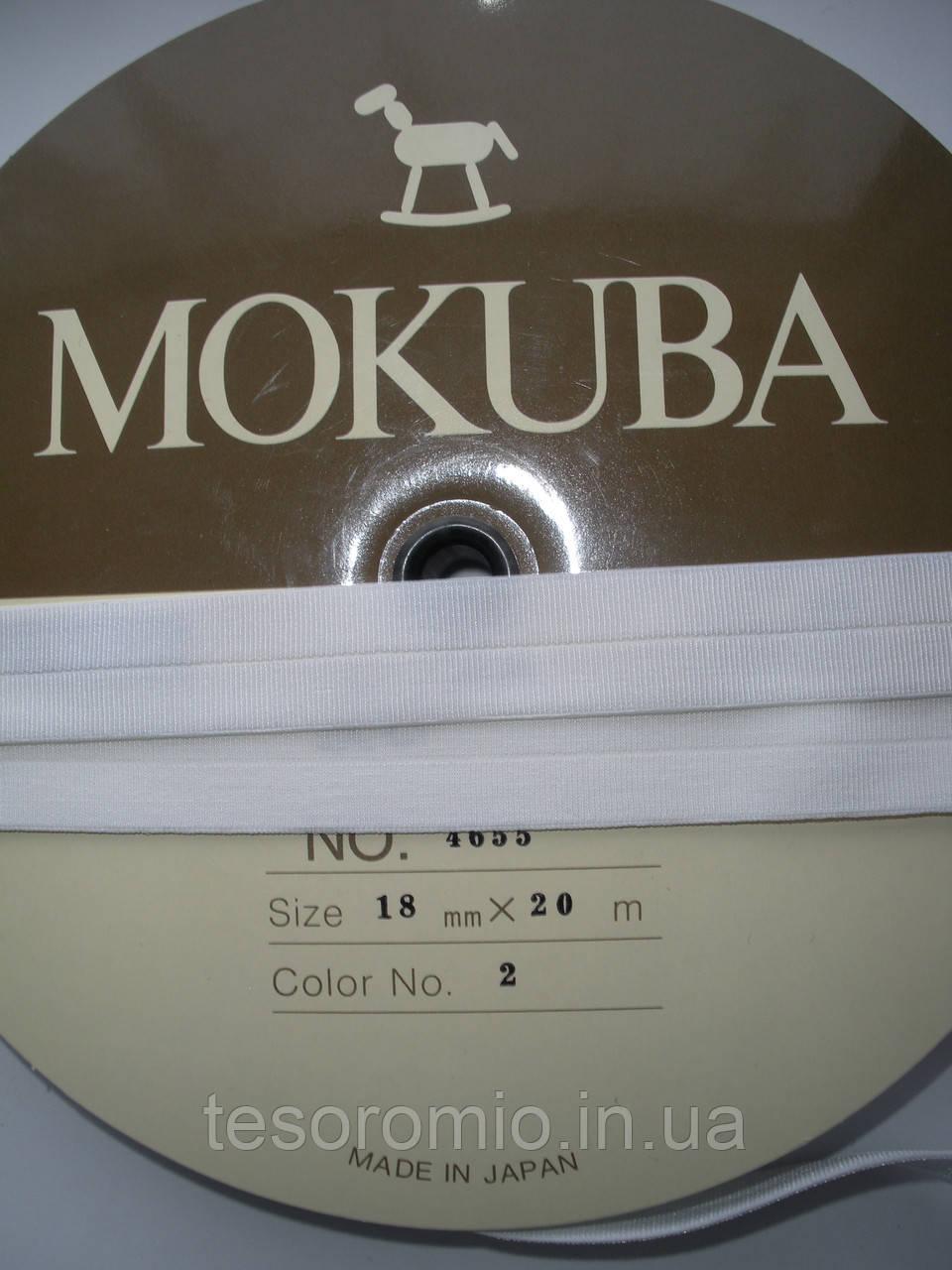 Резинка бейка белая 18мм, японская