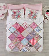 Постельное белье Cotton box Ранфорс Floral Seri 3D Natali Pembe