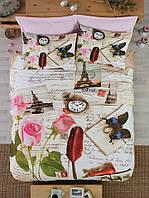 Постельное белье Cotton box Ранфорс Floral Seri 3D  Letters Bej