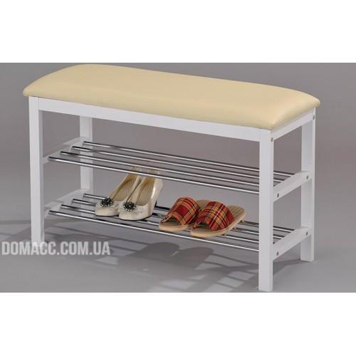 Скамейка с подставкой для обуви DA SR-0628-WT