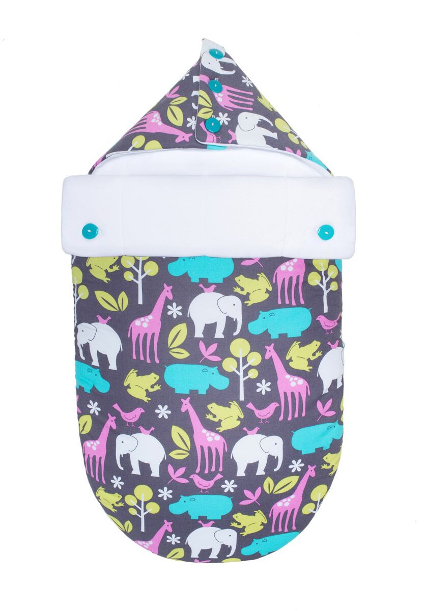 Летний конверт-кокон для младенцев «Зоопарк в полночь», GoforKid