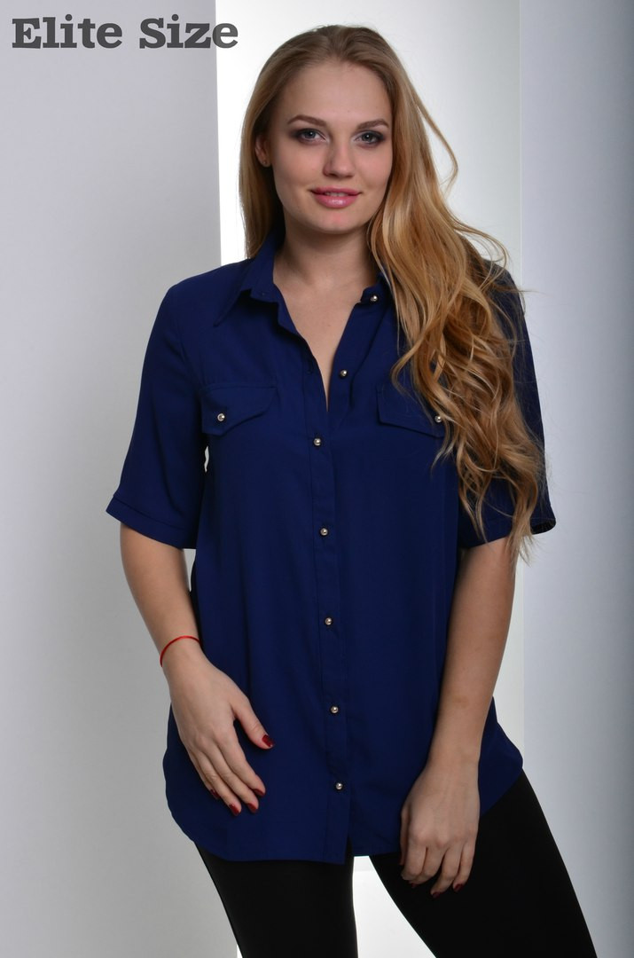 84a281be680 Купить женскую шифоновую блузку большого размера к-t6151164 ...