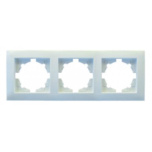 Рамка 3-я RIGHT HAUSEN VELENA горизонтальная белая HN-011151