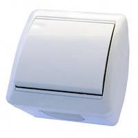 Выключатель 1-й RIGHT HAUSEN BERTA наружный белый IP54 HN-013011