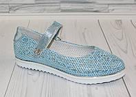 Туфли - балетки для девочки. Натуральная кожа 0164