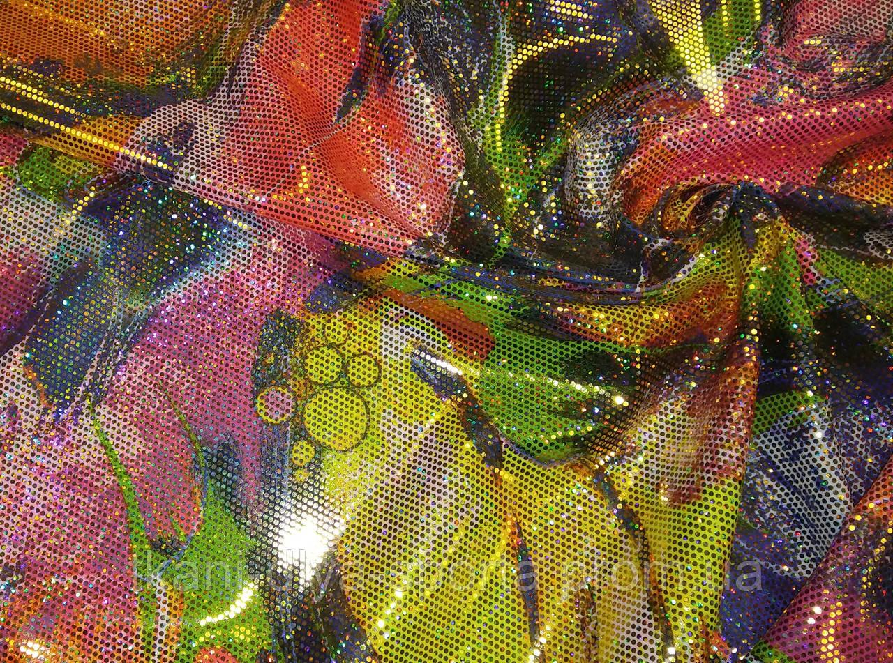 Бифлекс абстракция с золотой голографией