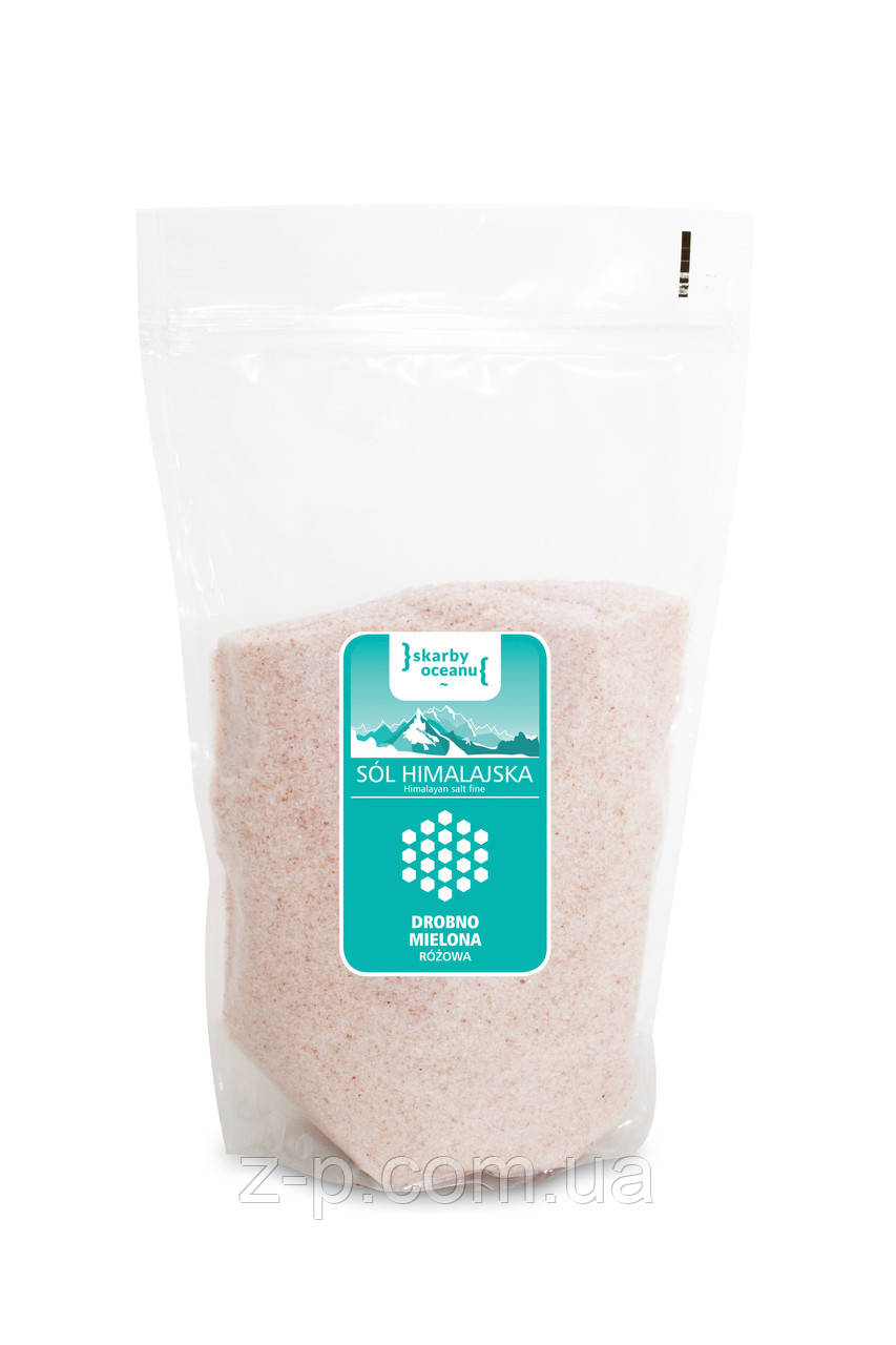 Сіль гімалайська рожева дрібного помелу, Skarby Oceanu, 0,6 кг