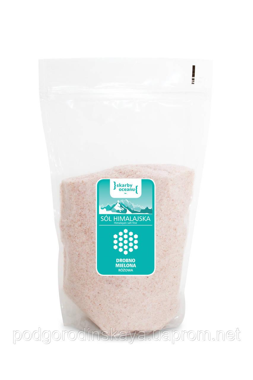 Соль гималайская розовая мелкого помола, Skarby Oceanu, 0,6кг