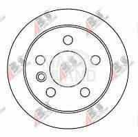 Гальмівний диск передній суцільний (R14, 260x16mm) VW Transporter T4 90-96 16082 ABS