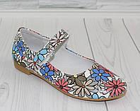 Туфли - балетки для девочки. Натуральная кожа 0271