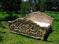 """Художественная резьба по дереву """"Кровать"""" из натурального дерева, ручная робота"""