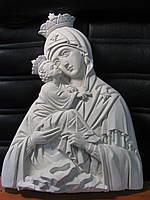 """Художественная резьба по дереву """"Крест с Богородицей Почаевской"""" из натурального дерева, ручная робота"""
