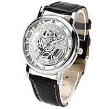 Наручний годинник з оригінальним дизайном. Чорні, фото 4