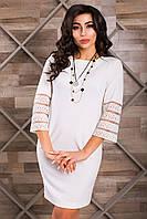 Нарядное Белое Платье Короткое с Интересным Рукавом XS-XL
