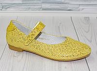 Туфли - балетки для девочки. Натуральная кожа 0052