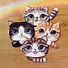 Кошелечки котята котенок с хвостиком серый