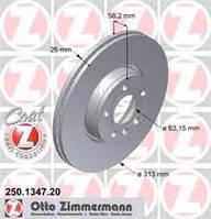 Гальмівний диск передній вентильований (R16, 313x26mm) VW Transporter T4 250134720 ZIMMERMANN