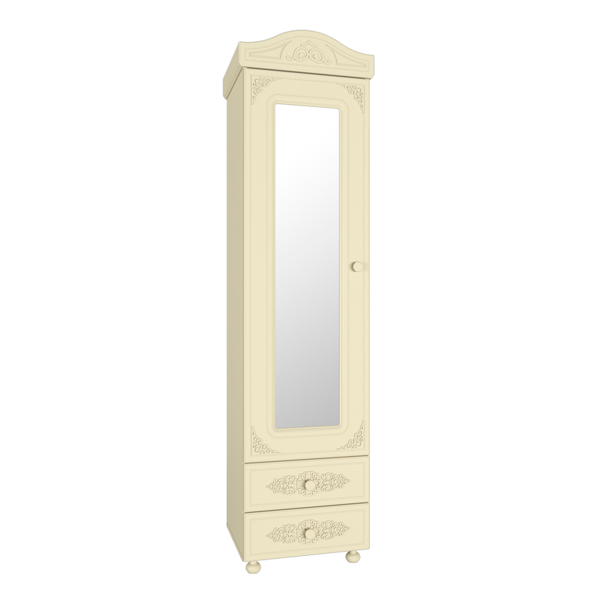 Ассоль Премиум АС-01 Шкаф-пенал с зеркалом