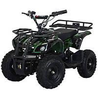 Детский железный квадроцикл Profi HB-EATV 800N-10 зеленый камуфляж