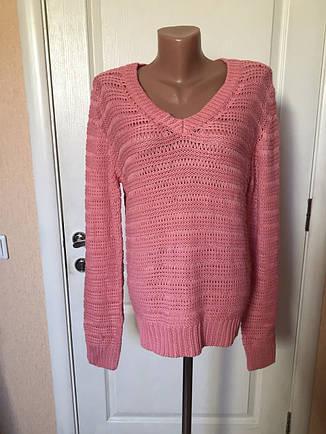 Свитер женский с треугольным вырезом розовый Vero Moda, фото 2