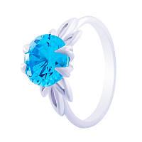 """Серебряное кольцо """"Кристалл"""" с бирюзовой вставкой"""