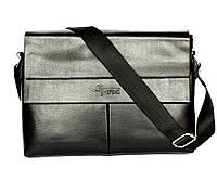 Мужская вместительная сумка черного цвета (Е54019)