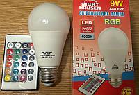 Лампа светодиодная RIGHT HAUSEN LED RGB+4000 9W E27, фото 1