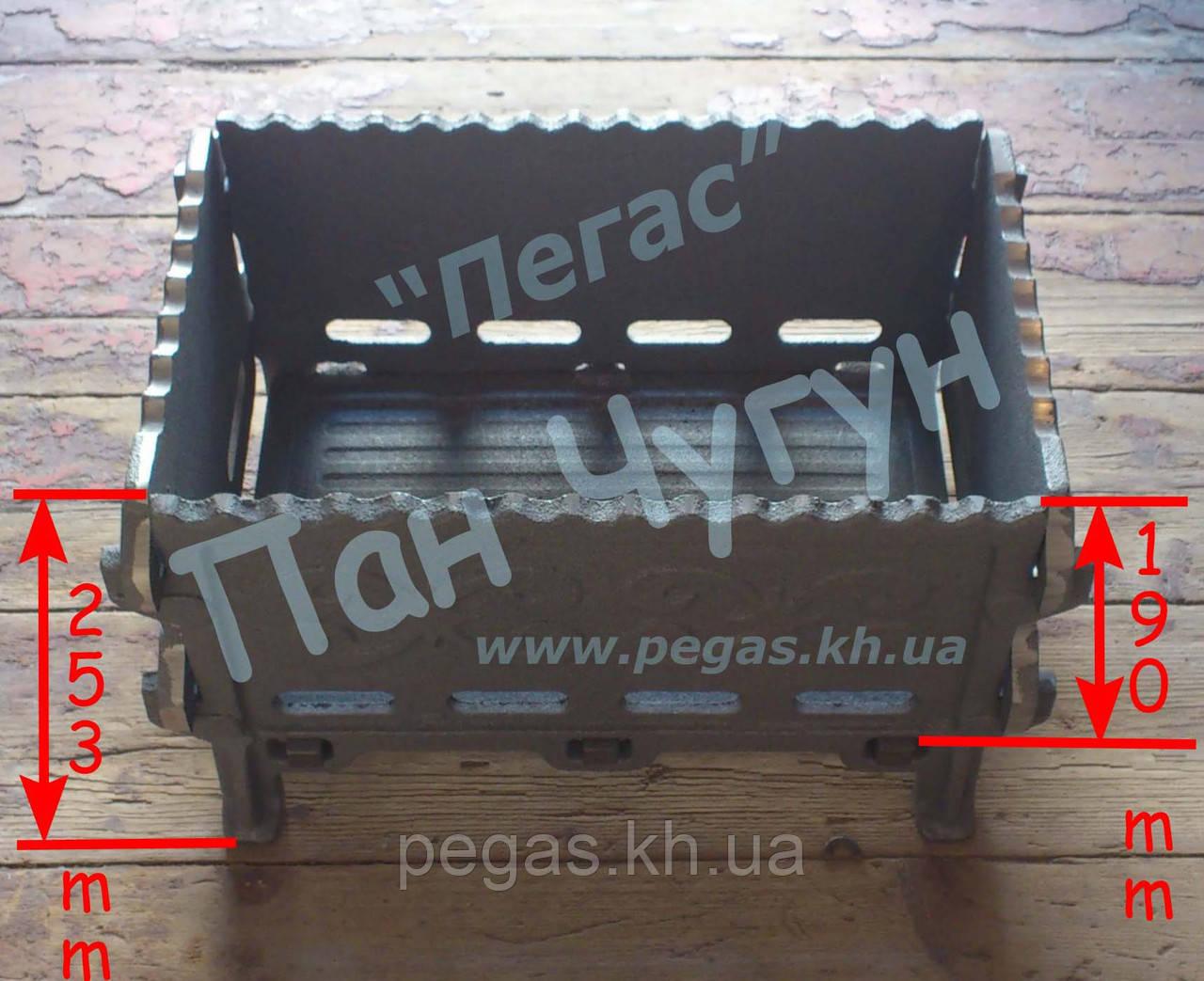 Мангал чугунный, разборной. 410*260 мм. гриль, барбекю (Украина)