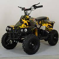 Детский железный квадроцикл Profi HB EATV800C-13, 4 фары, желтый камуфляж