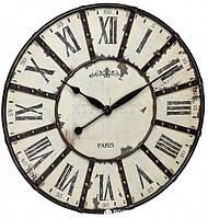 """Часы настенные TFA """"Vintage"""", XXL, античный стиль, металл, d=600x50 мм"""