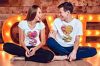 """Парные футболки """"Он\она частичка моего сердца"""""""