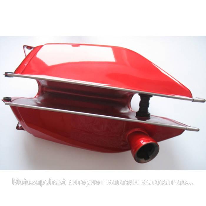 Бак топливный для мопеда Delta красный - «Motozapchast» интернет-магазин мотозапчастей в Харькове