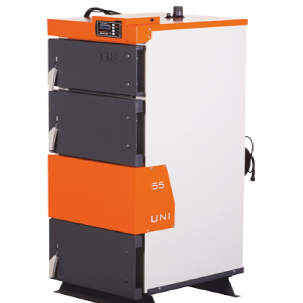 Твердотопливный котел  TIS UNI 99 (1000 кв,м,) с автоматикой - OptMan - самые низкие цены в Украине в Харькове