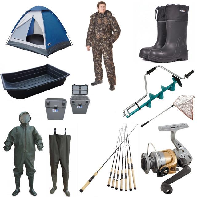 Товари для риболовлі та полювання
