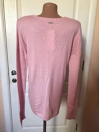 Свитер женский  нежно-розовый с V-образным вырезом S.Oliver, фото 2