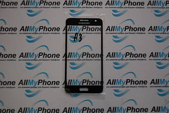 Стекло корпуса для мобильного телефона Samsung A3 черное
