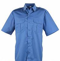 Рубашка форменная с коротким рукавом голубая под заправку