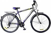 """Велосипед 28"""" Formula HORIZONT AM 14G Vbr рама-20,5"""" St чёрно-синий с багажником зад St, с крылом St 2017"""
