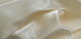 Ткань однотонная  портьерная монорей кремовый, высота 2.80м