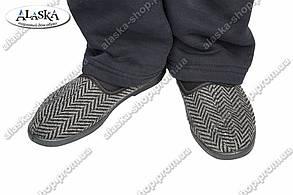 Мужские тапочки (Код: ТК-04 серый)