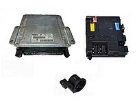 Блок управления двигателем Bosch 0281010360 комплект б/у 2.0hdi на Citroen Berlingo, Peugeot Partner год 96-08