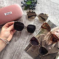Брендовые солнцезащитные очки для девушки женские очки miu miu