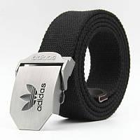 Ремень текстильный черный Adidas (реплика)