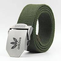 Ремень текстильный зеленый Adidas