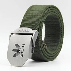 Ремень текстильный зеленый Adidas (реплика)