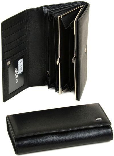 Выразительный женский кошелек из натуральной кожи dr.Bond W34 black
